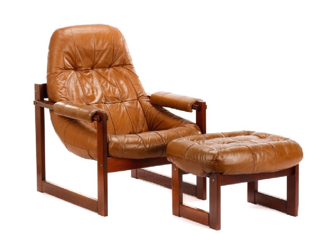 Percival Lafer Lounge Chair and Ottoman