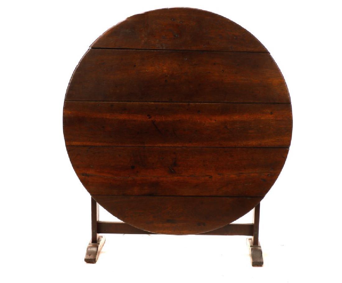Stained Oak Wine Tasting Tilt Top Table