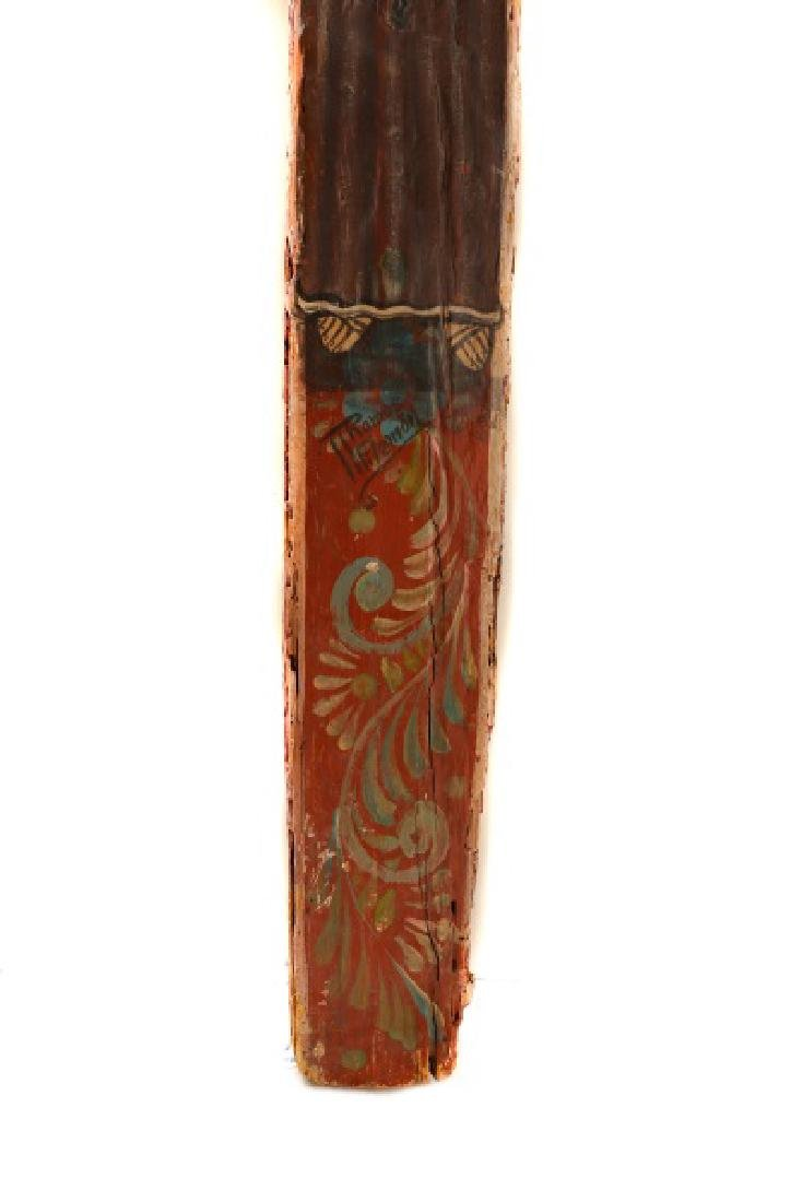 Polychromed Wood Santos Cross, Signed - 5