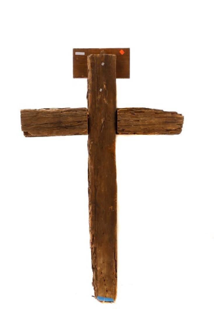 Polychromed Wood Santos Cross, Signed - 6