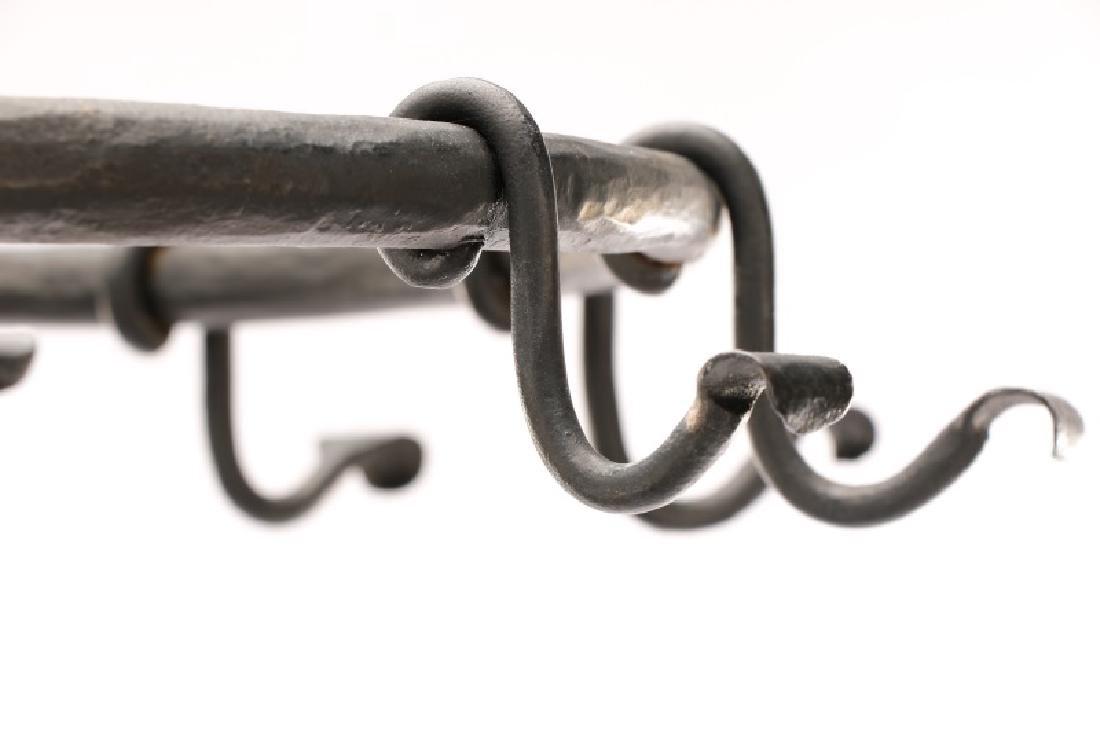 "Edgar Brandt Style Iron ""Serpent"" Coat Hat Stand - 4"