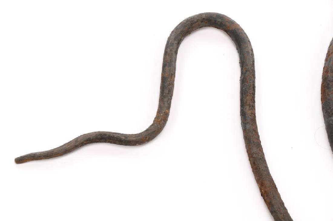 "Edgar Brandt Style Iron ""Serpent"" Coat Hat Stand - 7"