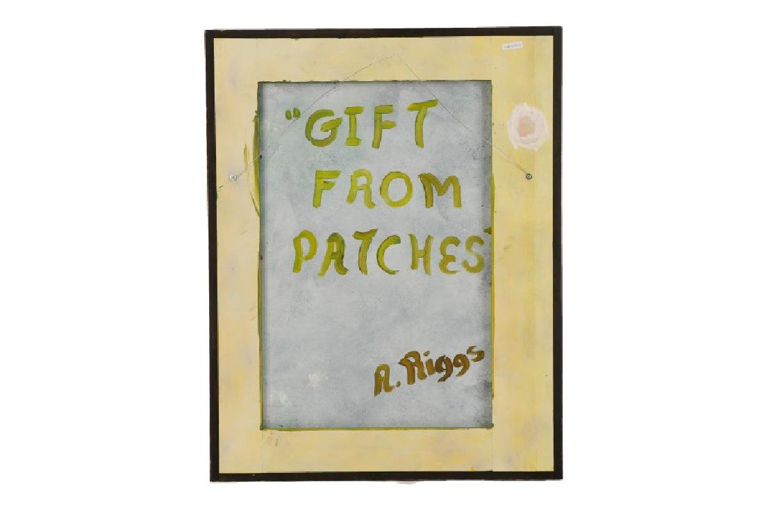 "Arthur Riggs, ""A Gift From Patches"", Signed - 4"