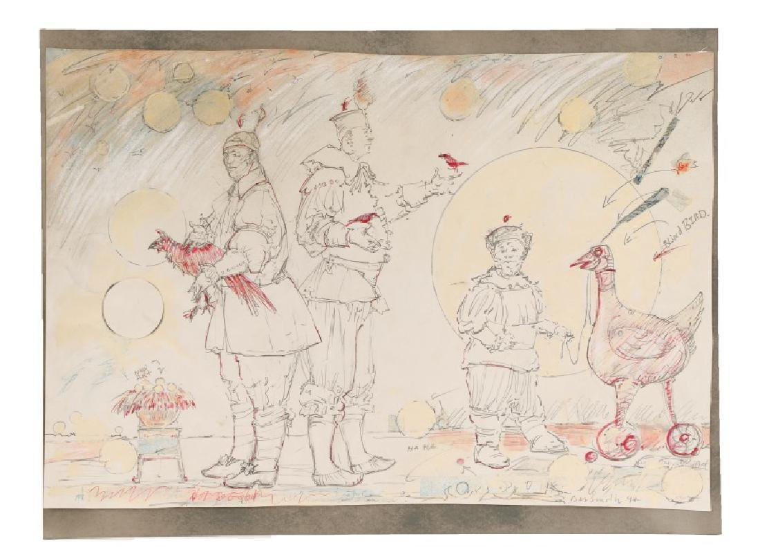 "Ben Smith, ""New Art"", Mixed Media on Paper"