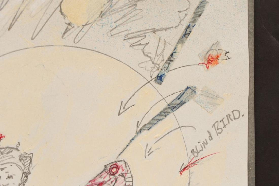 "Ben Smith, ""New Art"", Mixed Media on Paper - 7"