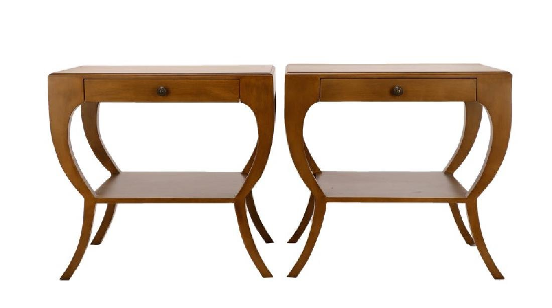 Pair, Noir Mahogany Maude Side Tables