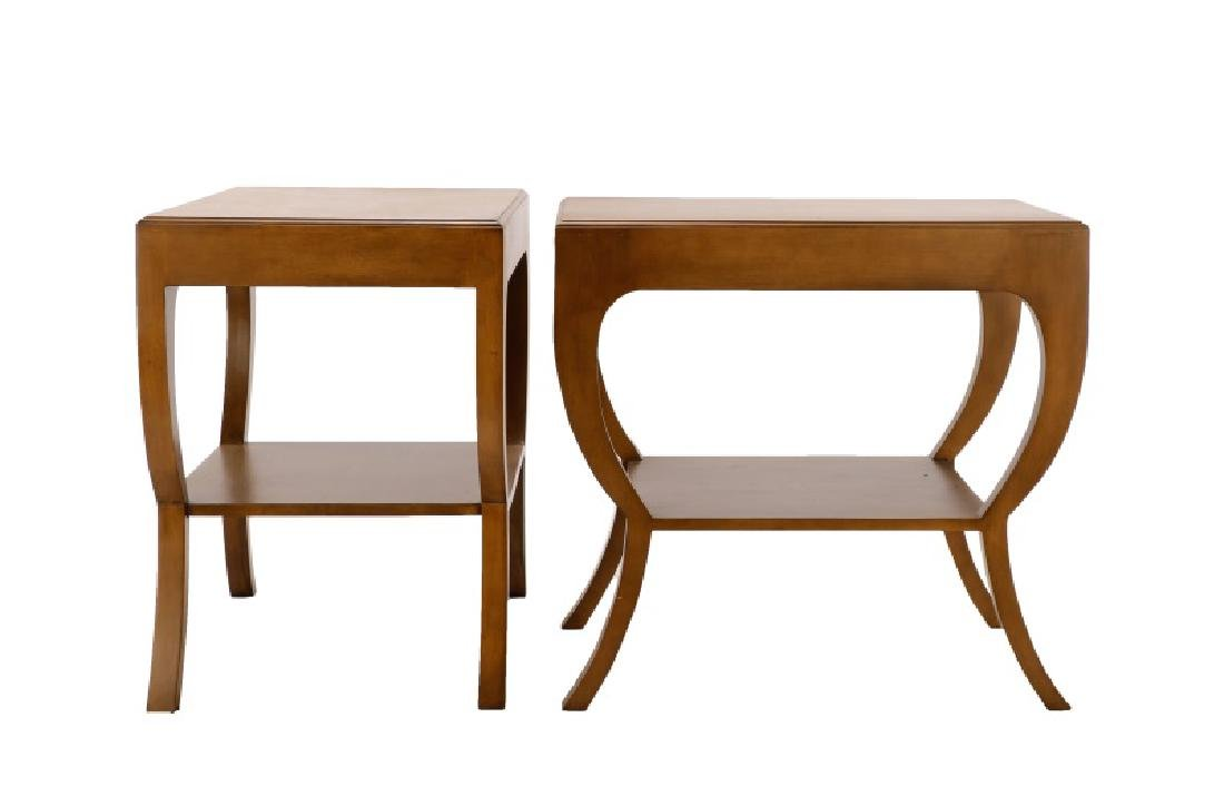 Pair, Noir Mahogany Maude Side Tables - 2