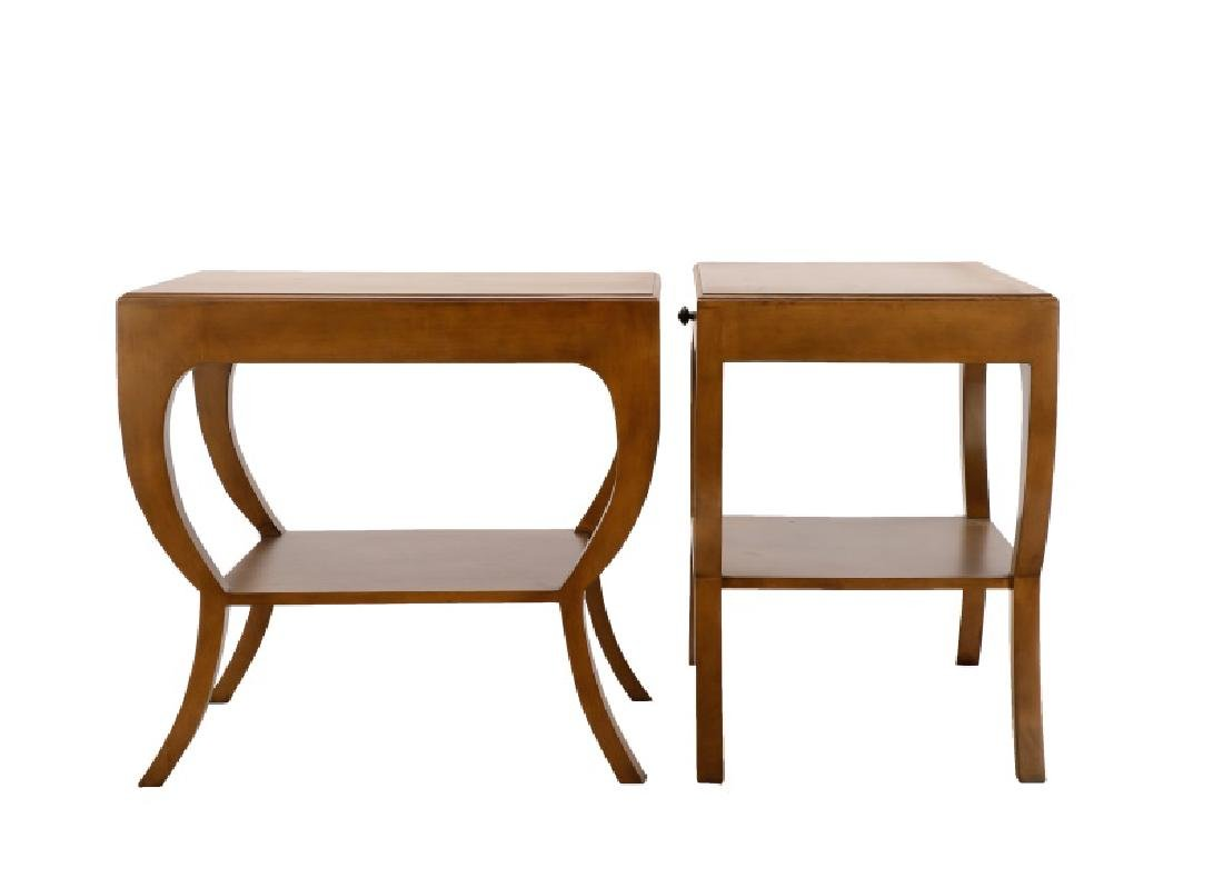 Pair, Noir Mahogany Maude Side Tables - 3