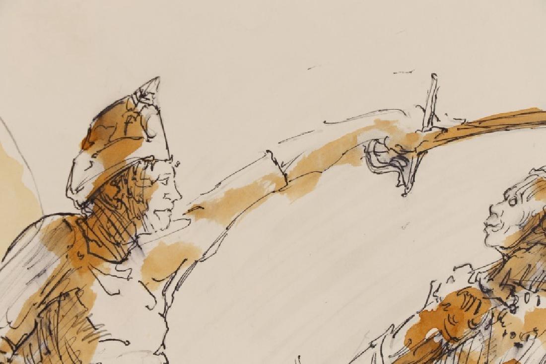 "Ben Smith, ""Sabre's Sword Fight"", Mixed Media - 3"