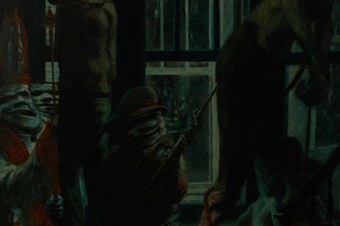 """Jim Yarborough,""""Interior with Nightmares,"""" Acrylic - 10"""