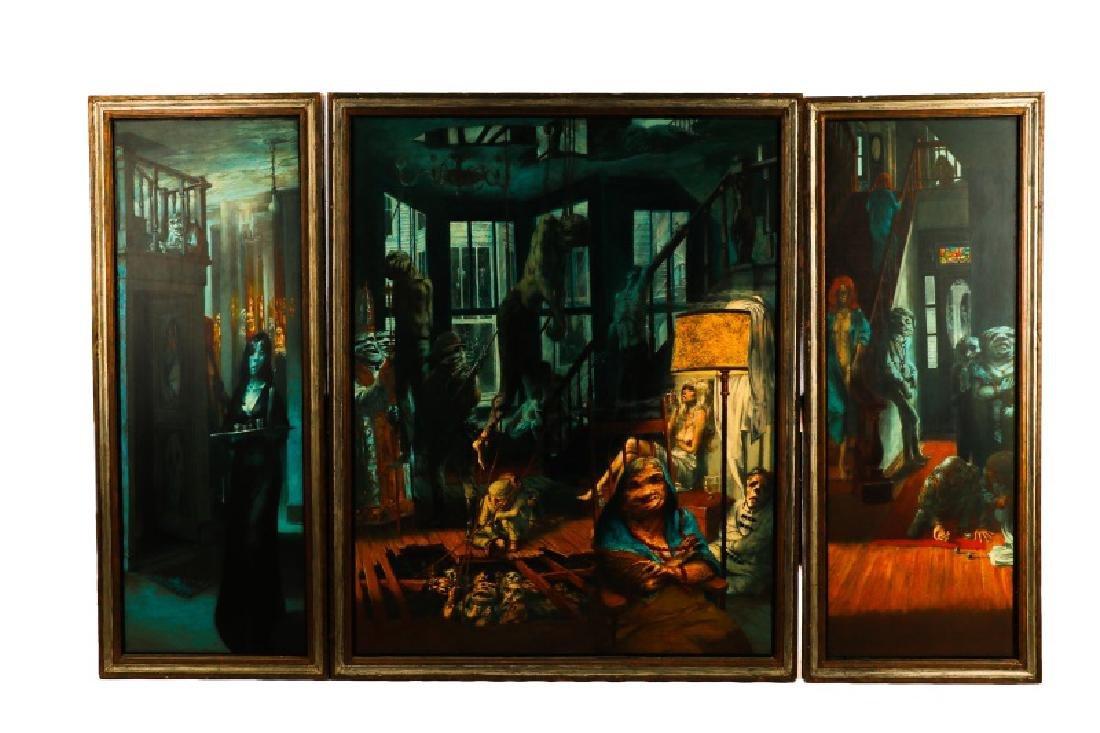 """Jim Yarborough,""""Interior with Nightmares,"""" Acrylic"""