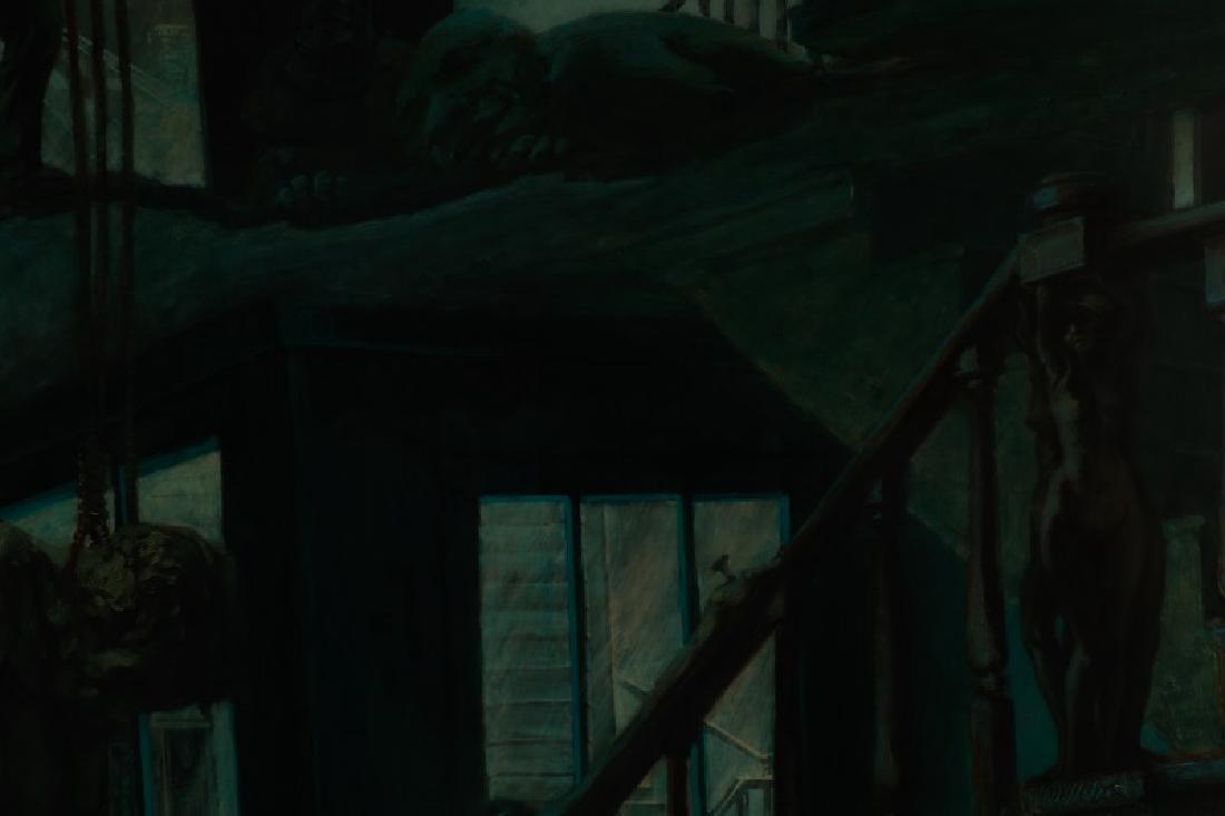 """Jim Yarborough,""""Interior with Nightmares,"""" Acrylic - 8"""