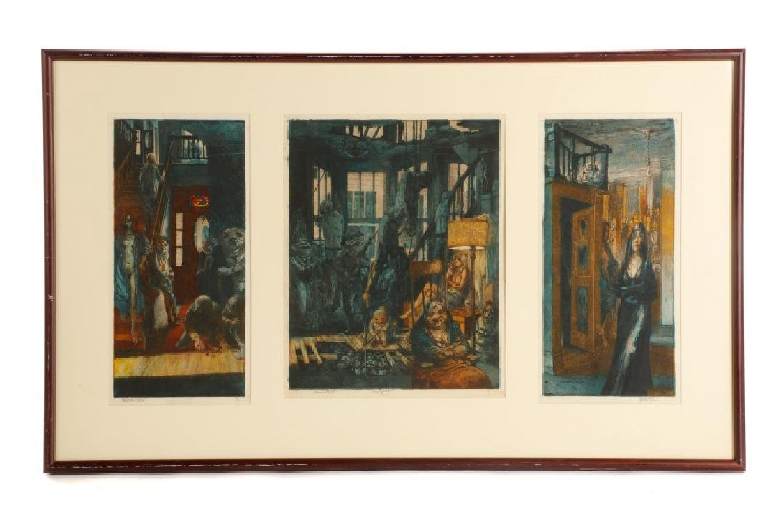 "Jim Yarborough ""Reenactment,"" Hand-Colored Etching"