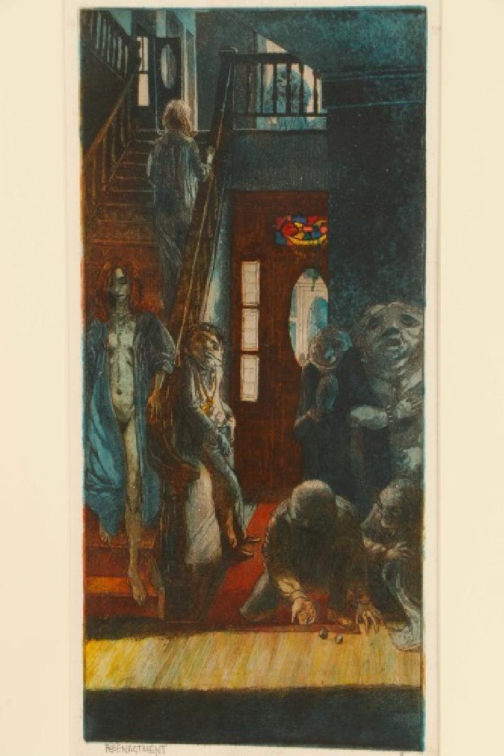 "Jim Yarborough ""Reenactment,"" Hand-Colored Etching - 2"