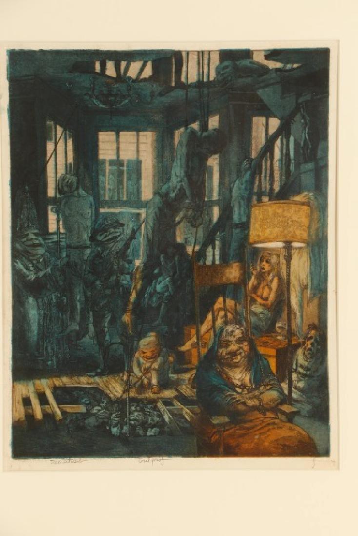 "Jim Yarborough ""Reenactment,"" Hand-Colored Etching - 3"