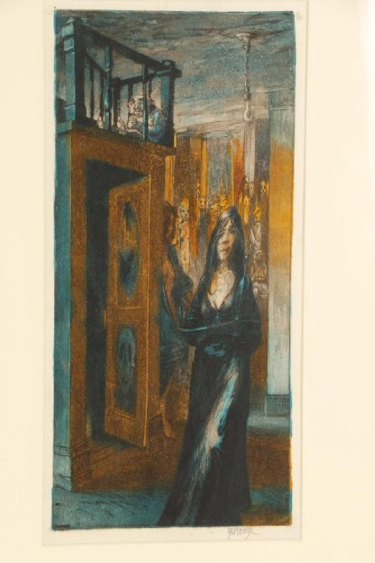"Jim Yarborough ""Reenactment,"" Hand-Colored Etching - 4"