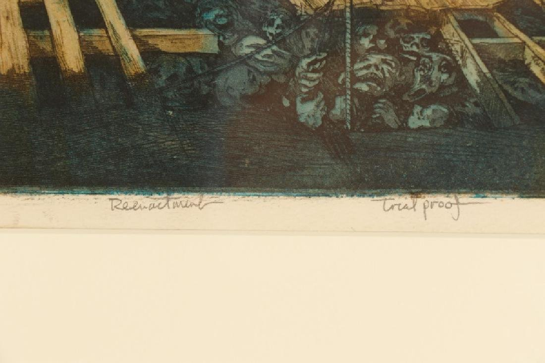 "Jim Yarborough ""Reenactment,"" Hand-Colored Etching - 5"