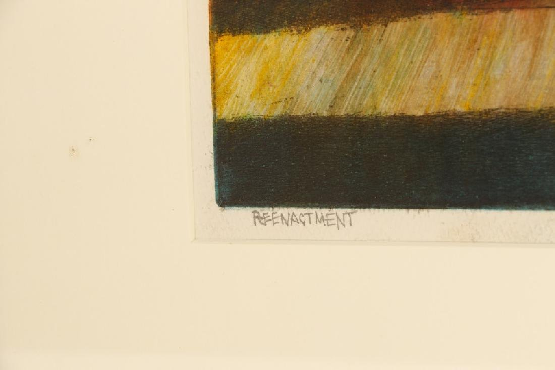 "Jim Yarborough ""Reenactment,"" Hand-Colored Etching - 6"