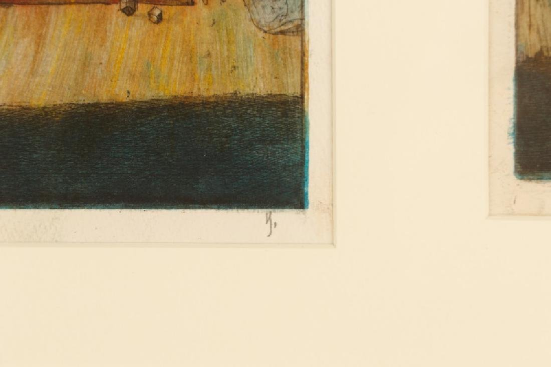 "Jim Yarborough ""Reenactment,"" Hand-Colored Etching - 7"