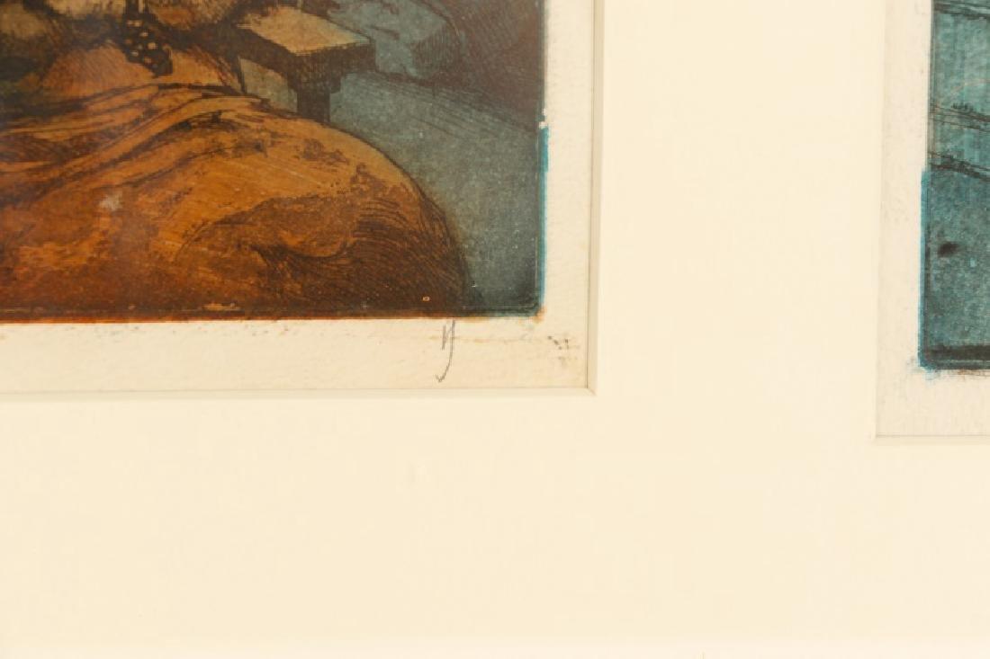 "Jim Yarborough ""Reenactment,"" Hand-Colored Etching - 8"