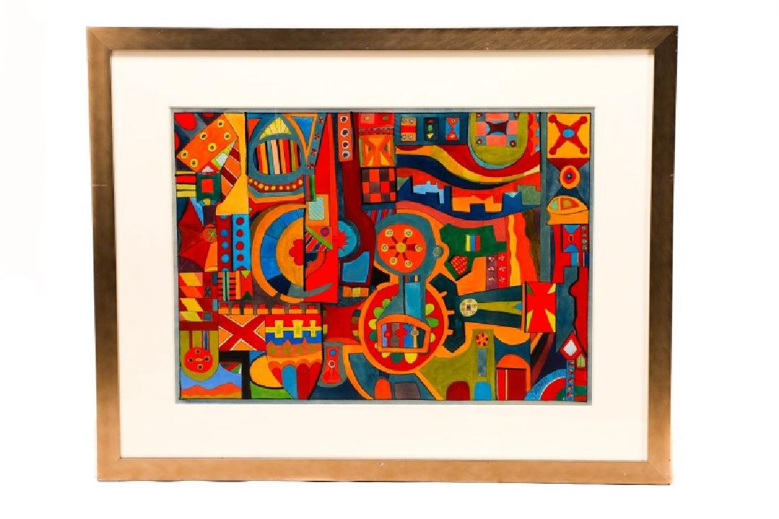 "American School, ""Geometric Abstraction"", Gouache"