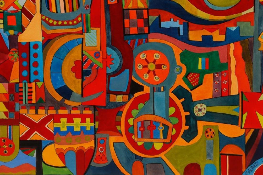 "American School, ""Geometric Abstraction"", Gouache - 2"