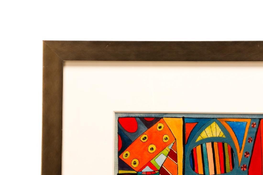 "American School, ""Geometric Abstraction"", Gouache - 3"