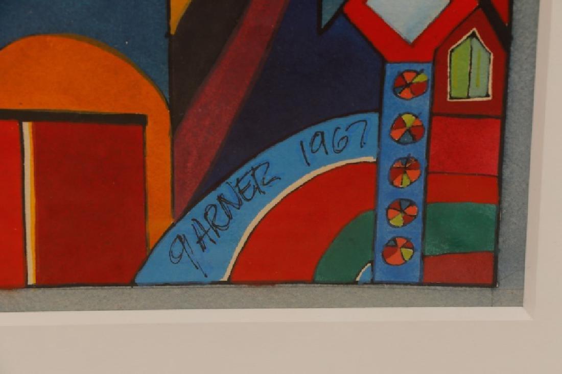 "American School, ""Geometric Abstraction"", Gouache - 4"