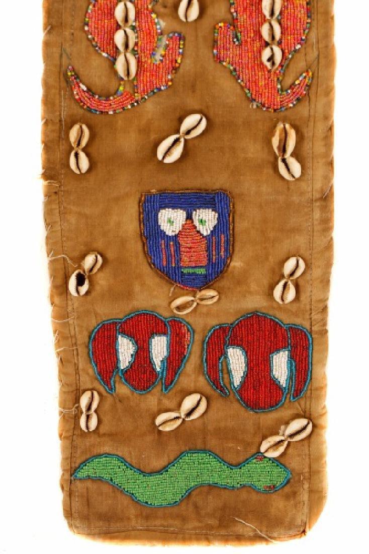 "African Beaded Textile 'Elephant"" Mask - 11"
