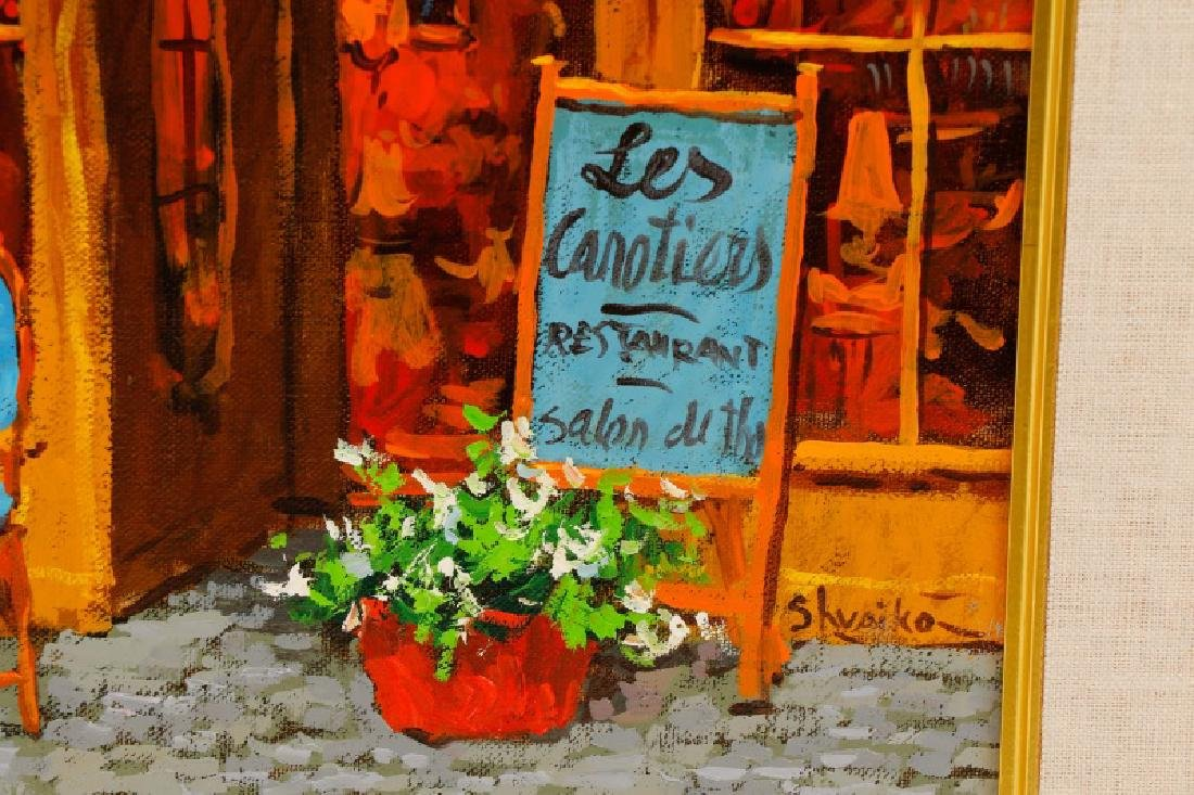 "Victor Shvaiko, ""Les Canopier"", Signed O/C - 5"