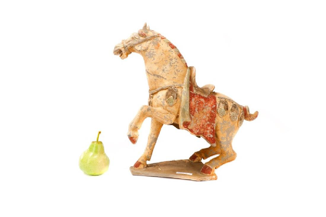 Tang Dynasty Style Terracotta Pottery Horse - 2
