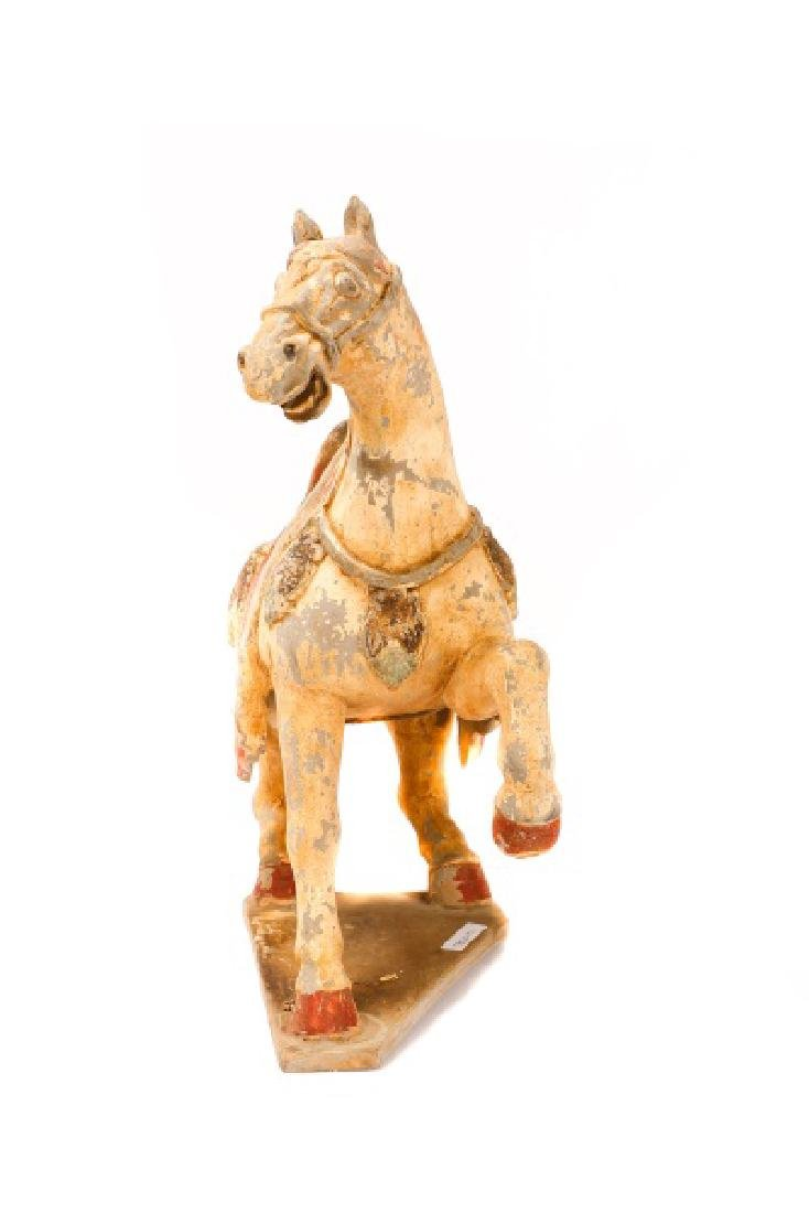 Tang Dynasty Style Terracotta Pottery Horse - 5