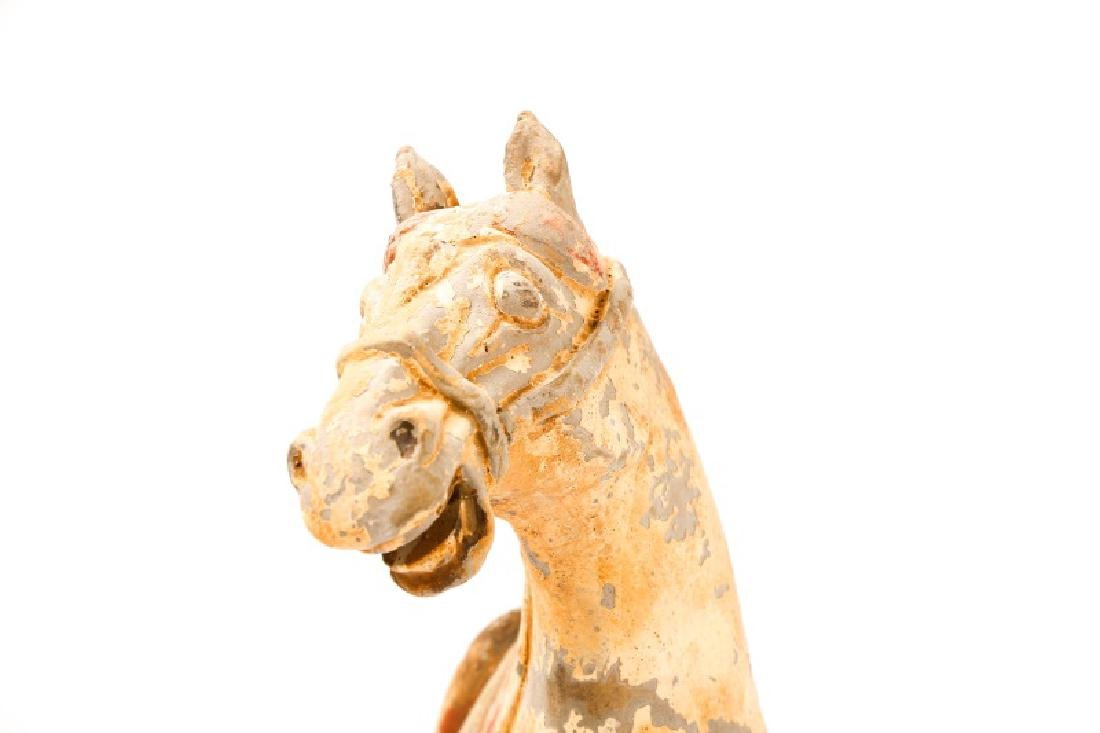 Tang Dynasty Style Terracotta Pottery Horse - 6