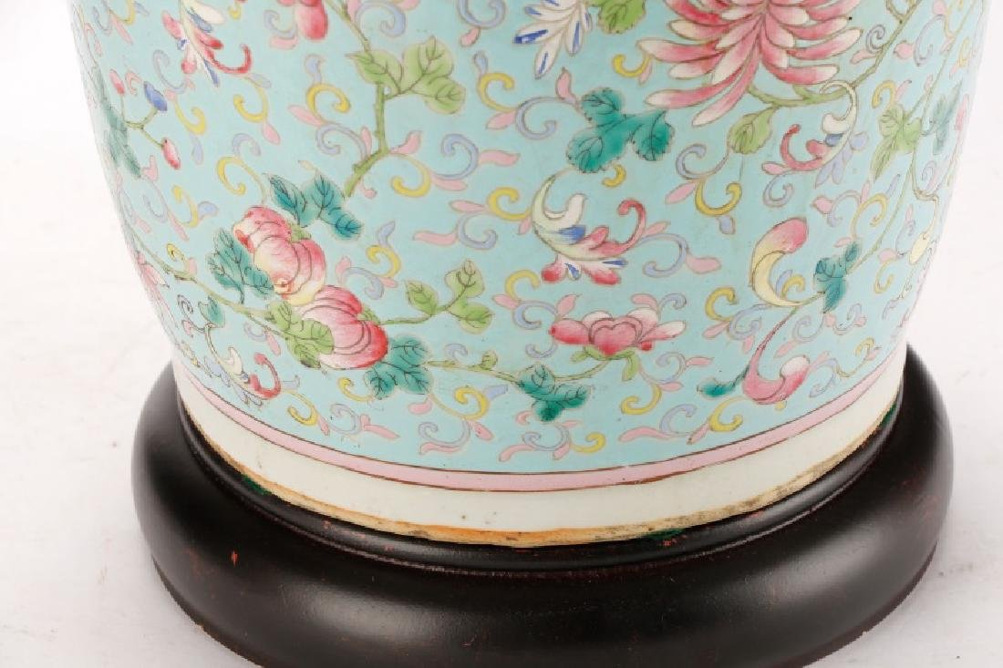 Large Chinese Famille Rose Porcelain Table Lamp - 4