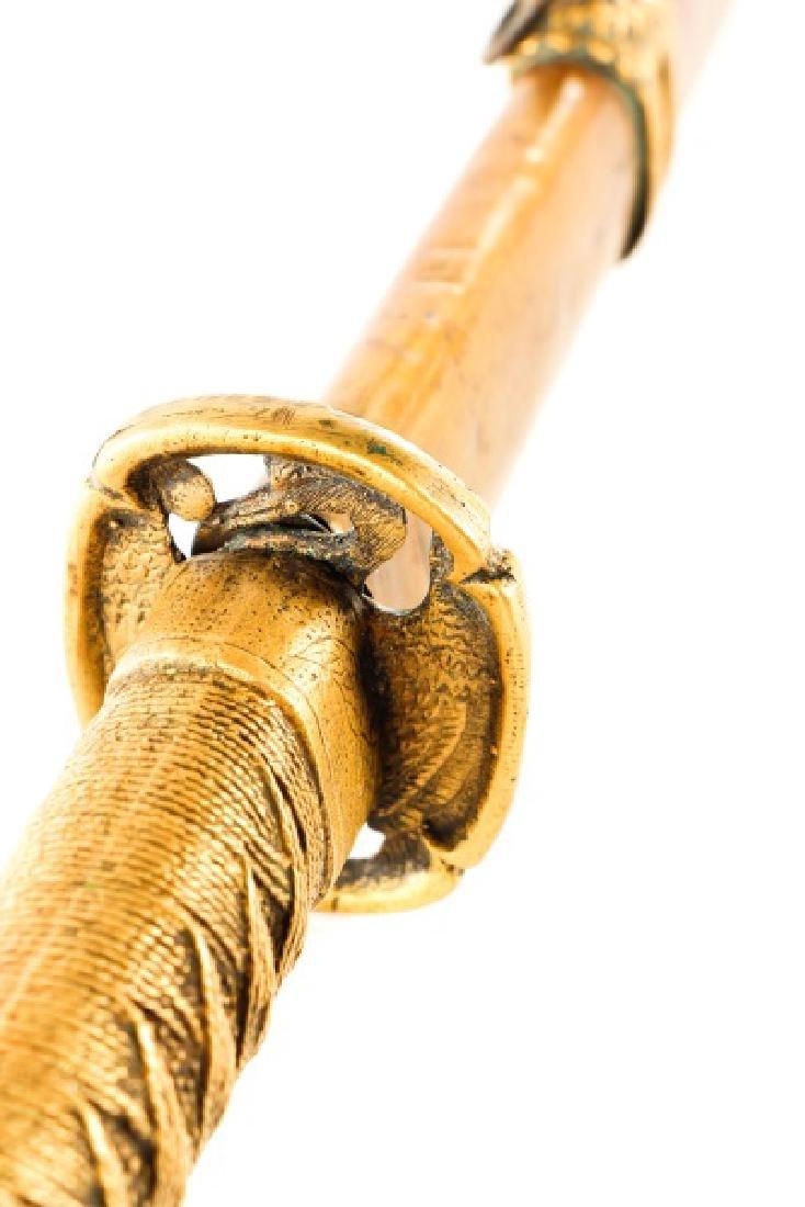 Japanese WWII Style Katana Sword w/ Scabbard - 4