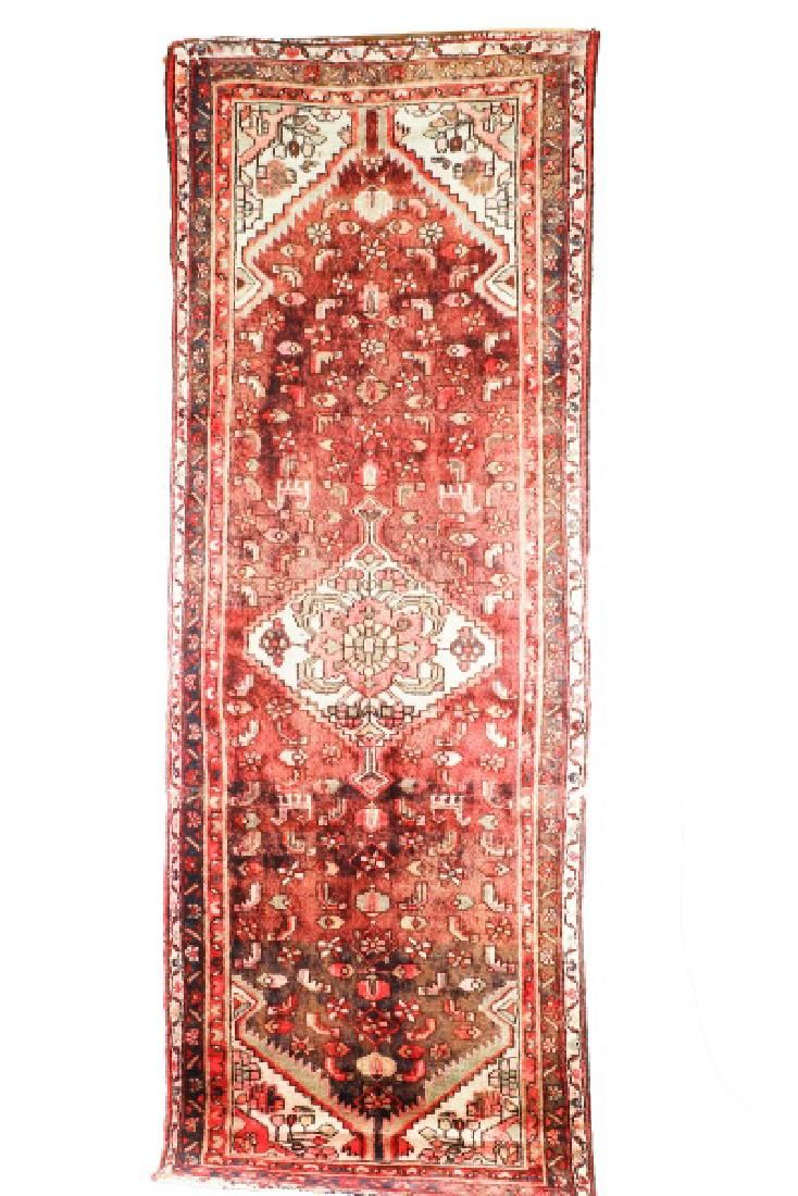 Hand Woven Persian Hamadan 3'7'' x 9'9''