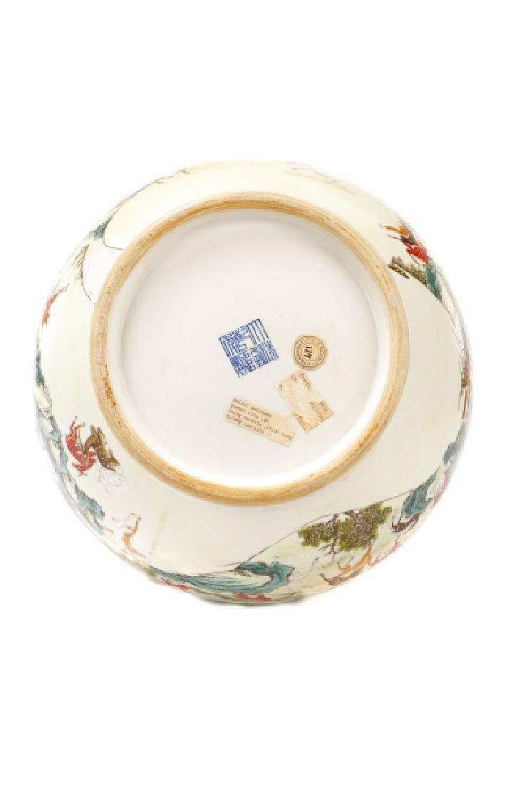 Chinese Porcelain Hundred Deer Hu Vase, Marked - 9