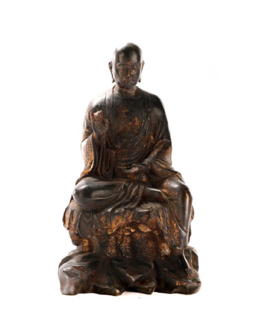 Bronze Figure of Seated Buddha