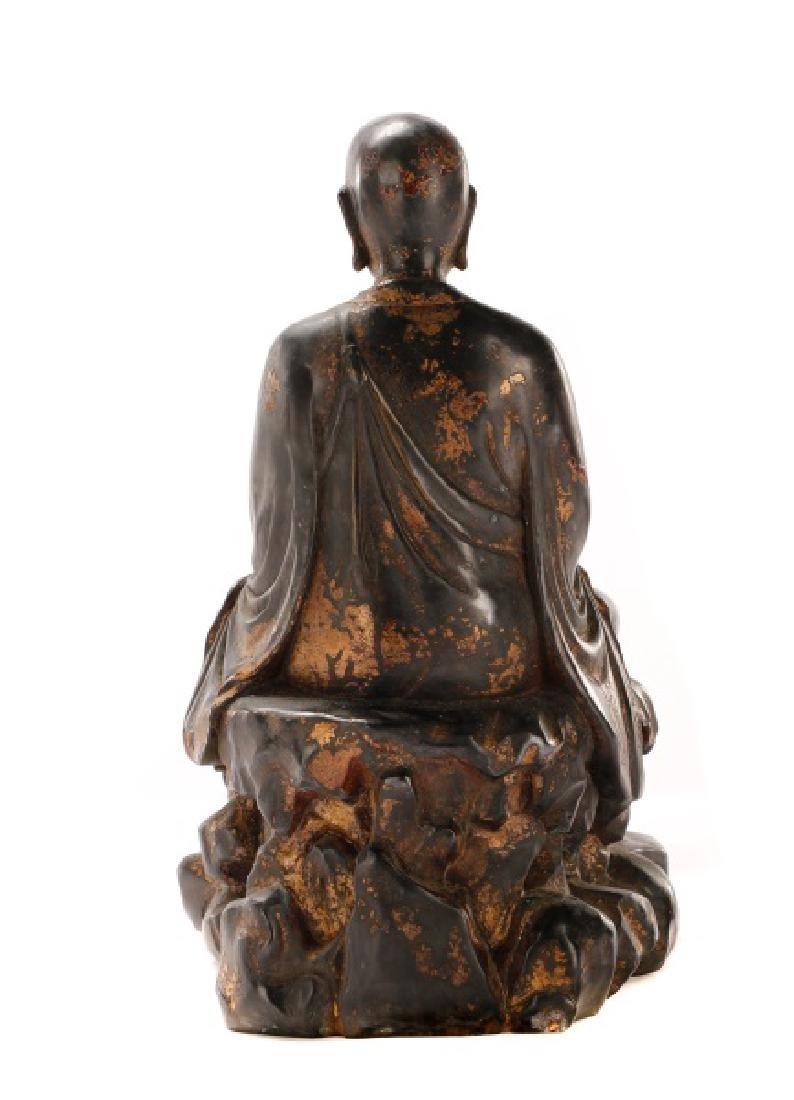 Bronze Figure of Seated Buddha - 4
