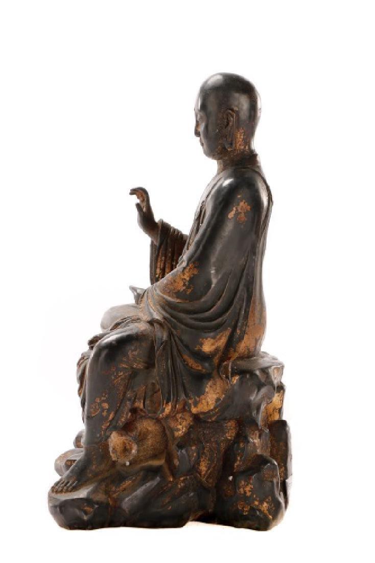 Bronze Figure of Seated Buddha - 5