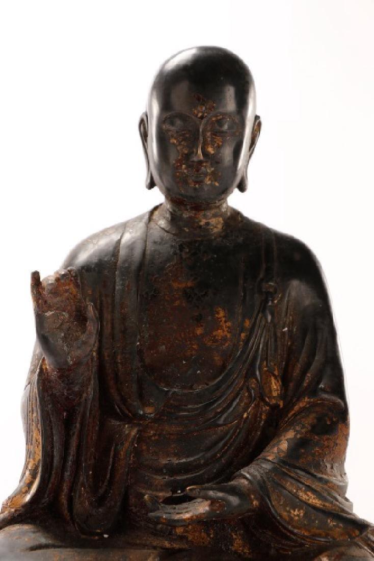 Bronze Figure of Seated Buddha - 7