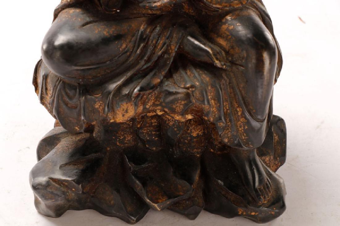 Bronze Figure of Seated Buddha - 8