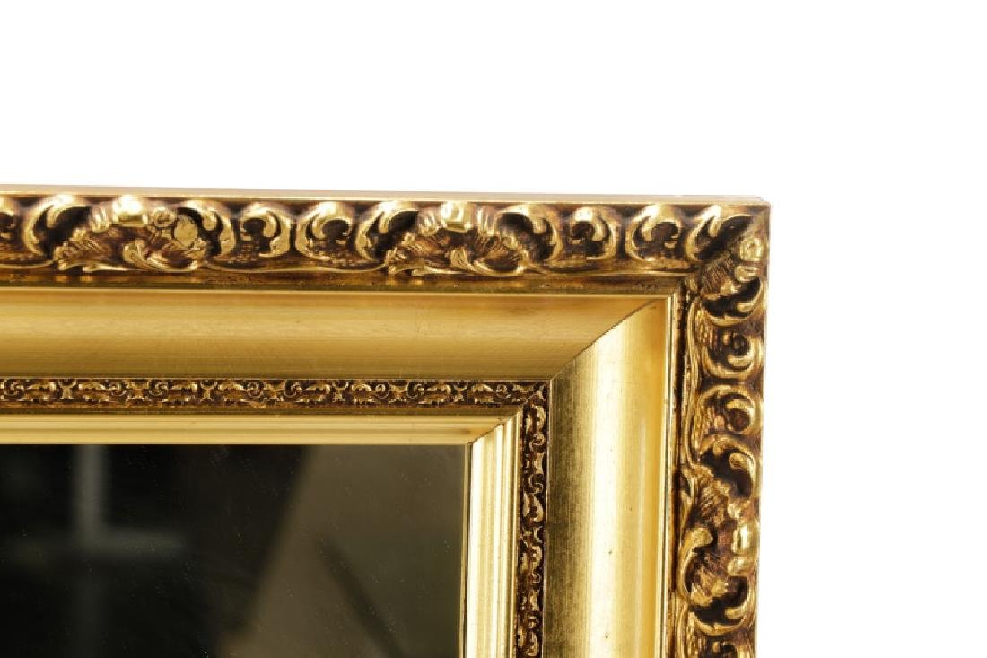 Rectangular Giltwood Acanthine Wall Mirror - 2