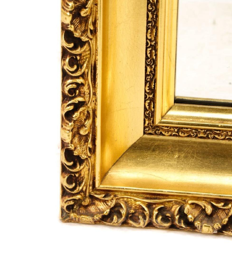 Rectangular Giltwood Acanthine Wall Mirror - 3