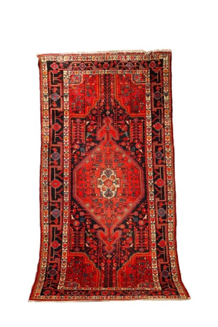 "Hand Woven Persian Hamadan Rug - 5' 4"" x 10' 4"""