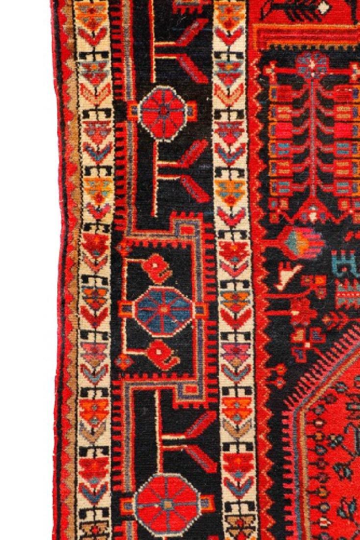 "Hand Woven Persian Hamadan Rug - 5' 4"" x 10' 4"" - 2"