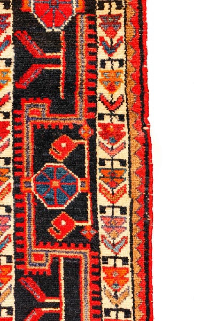 "Hand Woven Persian Hamadan Rug - 5' 4"" x 10' 4"" - 4"