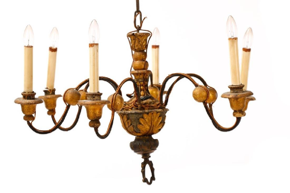 Italian Polychromed 6-Light Chandelier - 4