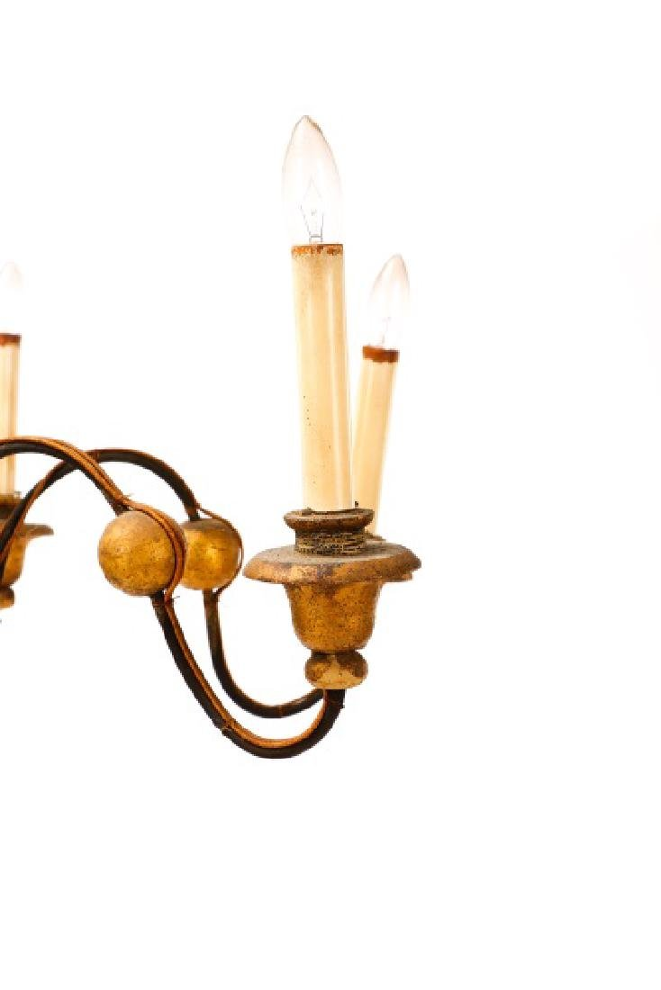 Italian Polychromed 6-Light Chandelier - 6