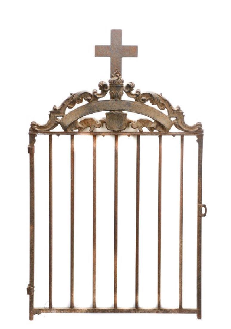 Continental Wrought Iron Church Yard Gate